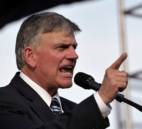 Franklin Graham preaching