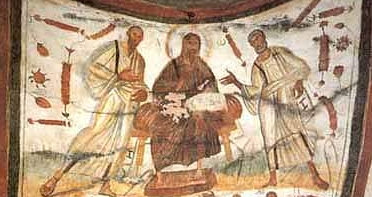 Image result for Christ Between Peter and Paul, 4th century