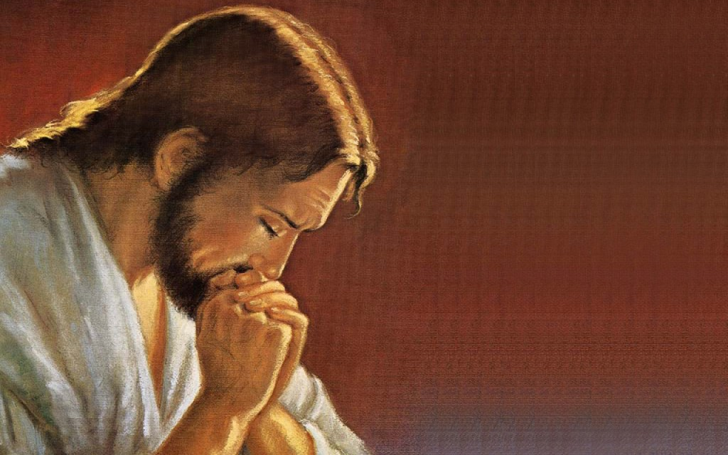 Jesus praying to God 2