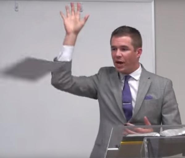 Dr. Dustin Smith in debate, 2016