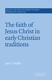 Wallis, The Faith of Jesus