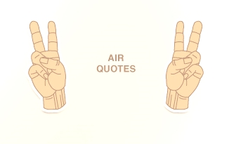 air-quotes