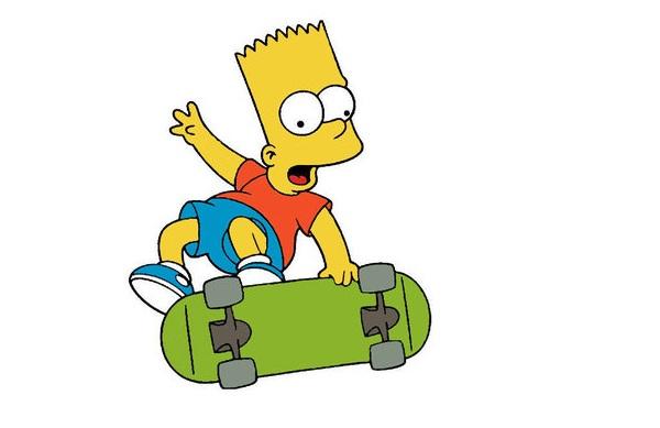 Bart Simpson Skateboarding Images