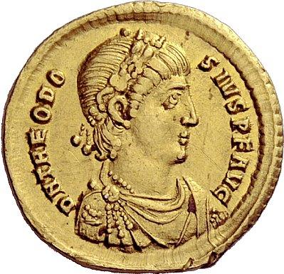 coin showing Theodosius I