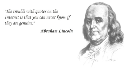 fake quotes on the internet