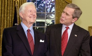 george bush and jimmy carter