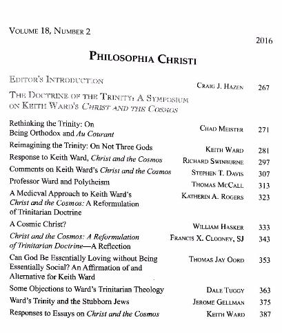 Keith Ward Trinity symposium in Philosophia Christi