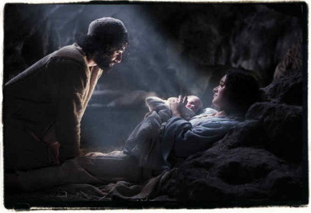 joseph mary jesus on the first christmas