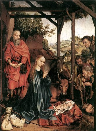 Martin Schongauer' The Nativity (ca. 1480)