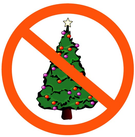 no christmas tree symbol