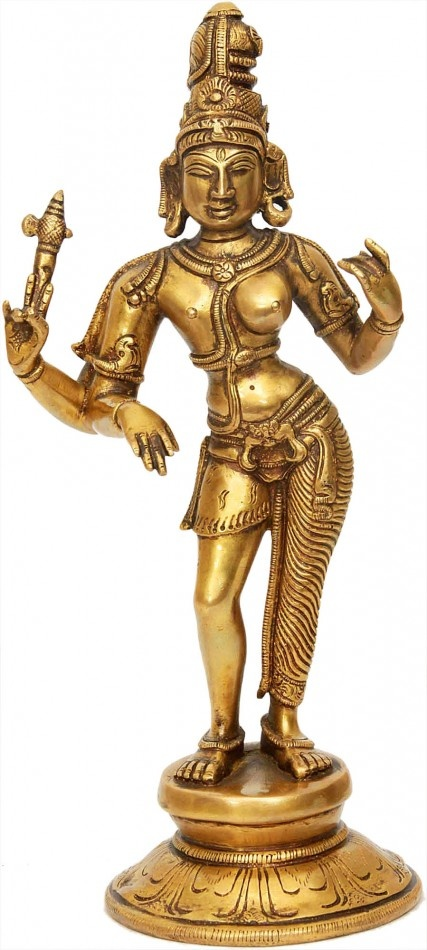 Idol of Shiva-Parvati - male on the left, female on the right
